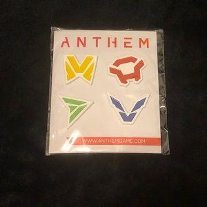 Anthem Enamel Pin Set